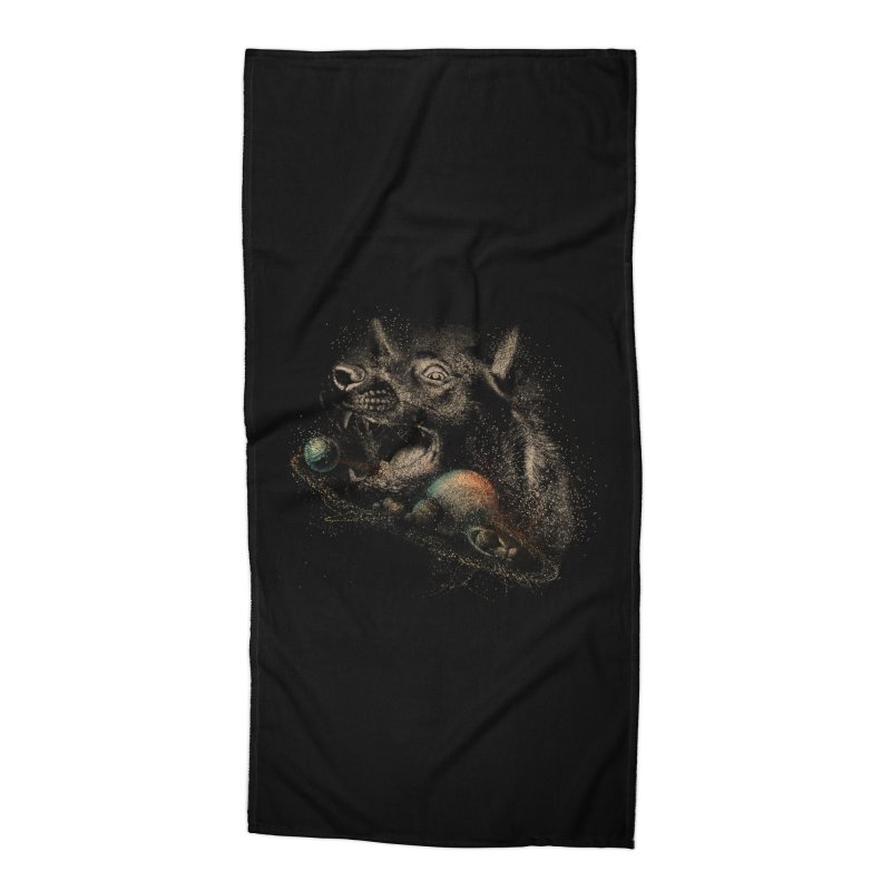 Dog space Accessories Beach Towel by jackduarte's Artist Shop