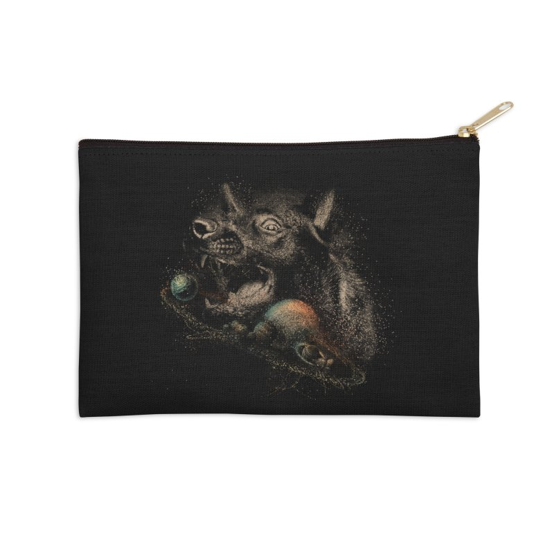 Dog space Accessories Zip Pouch by jackduarte's Artist Shop