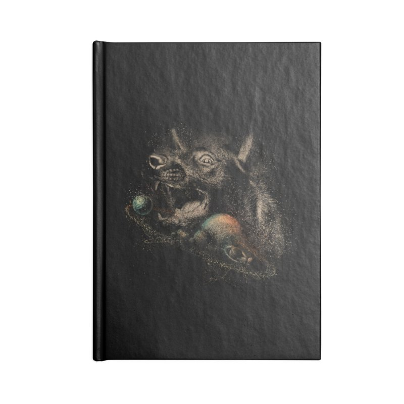 Dog space Accessories Blank Journal Notebook by jackduarte's Artist Shop