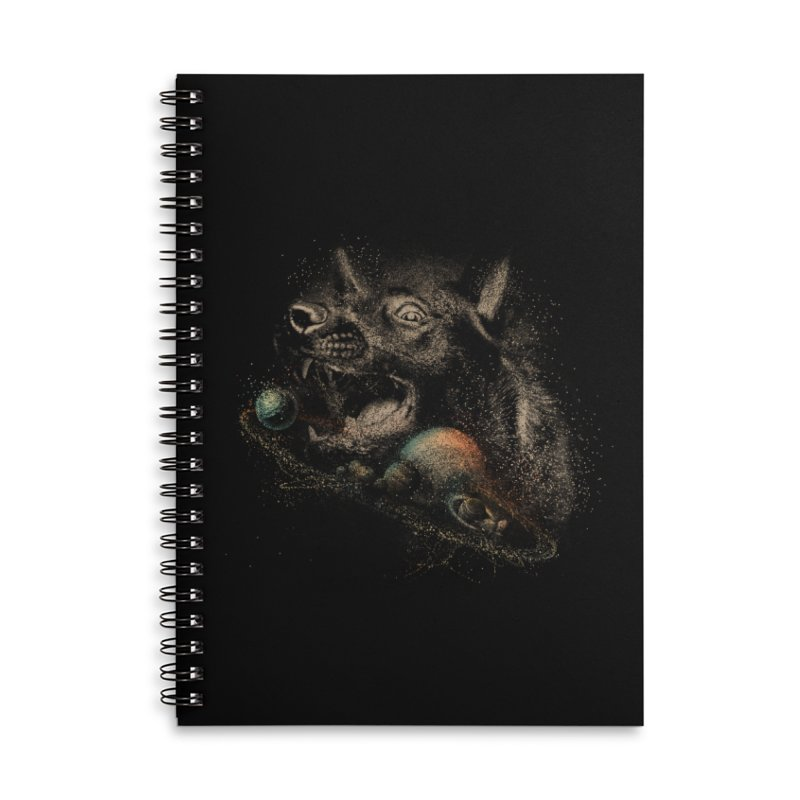 Dog space Accessories Lined Spiral Notebook by jackduarte's Artist Shop