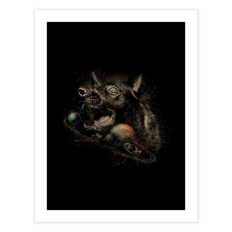 Dog space Home Fine Art Print by jackduarte's Artist Shop