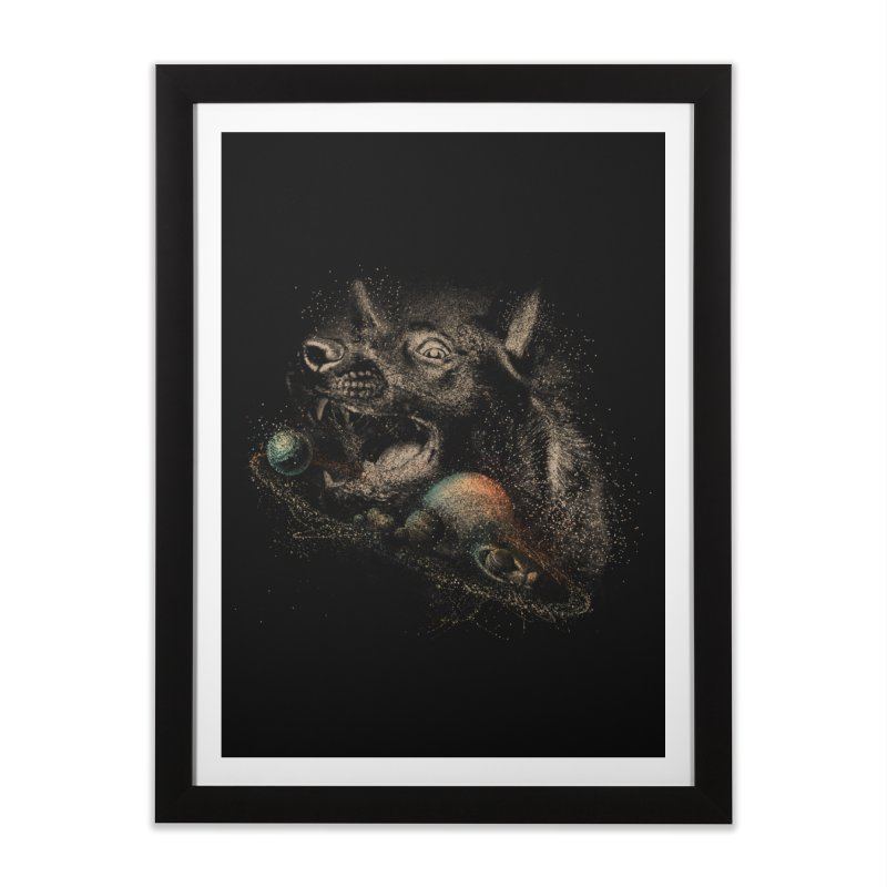 Dog space Home Framed Fine Art Print by jackduarte's Artist Shop