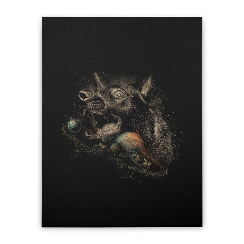 Dog space Home Stretched Canvas by jackduarte's Artist Shop