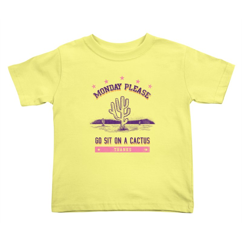 Monday please Kids Toddler T-Shirt by jackduarte's Artist Shop
