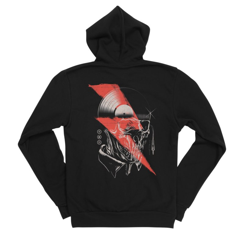 Music mind Men's Sponge Fleece Zip-Up Hoody by jackduarte's Artist Shop