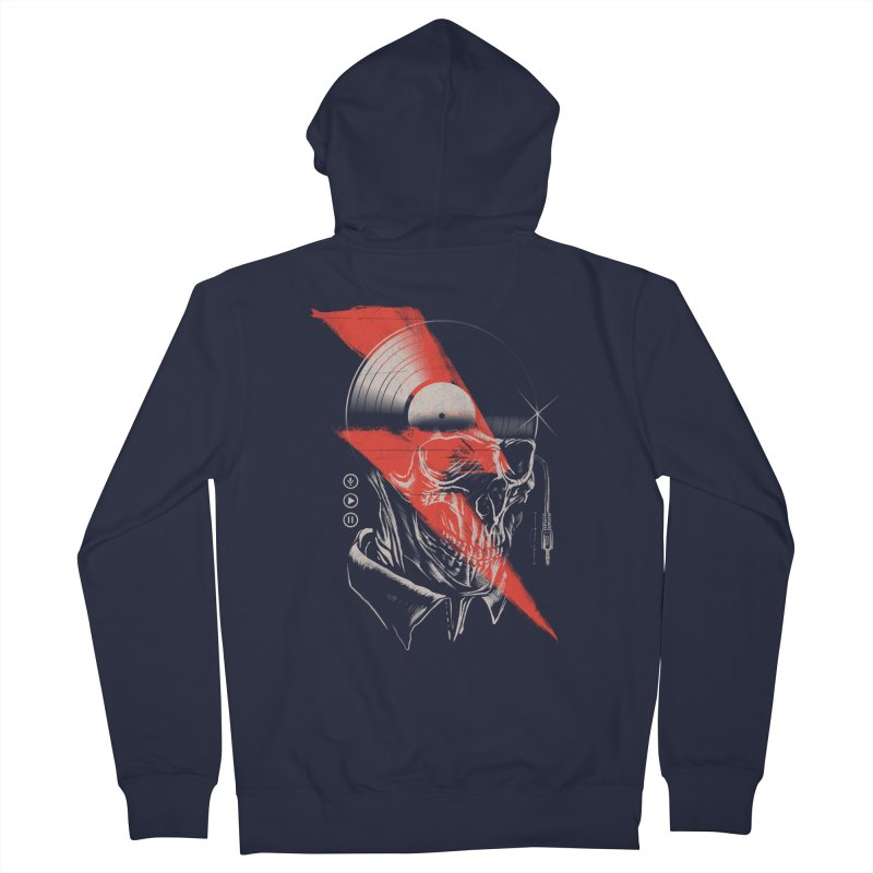 Music mind Men's French Terry Zip-Up Hoody by jackduarte's Artist Shop