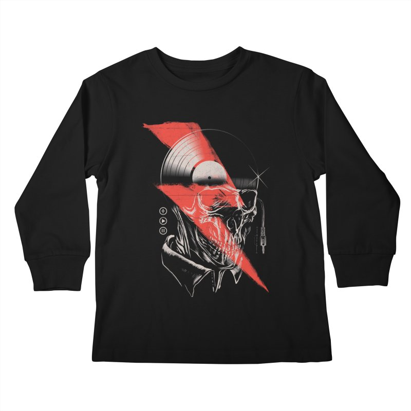 Music mind Kids Longsleeve T-Shirt by jackduarte's Artist Shop