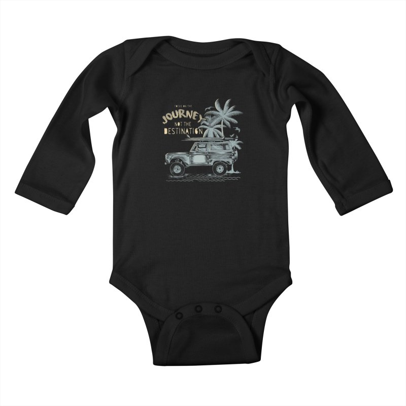 Journey Kids Baby Longsleeve Bodysuit by jackduarte's Artist Shop