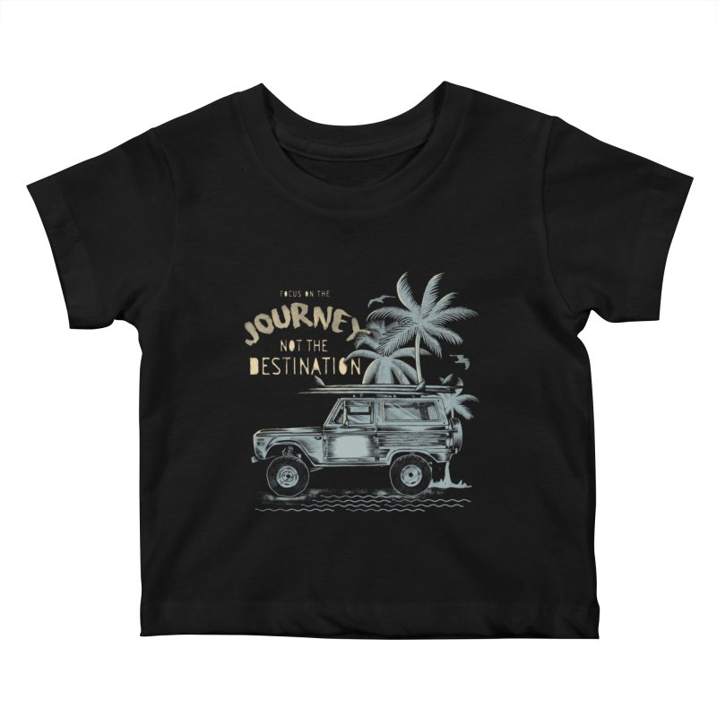 Journey Kids Baby T-Shirt by jackduarte's Artist Shop
