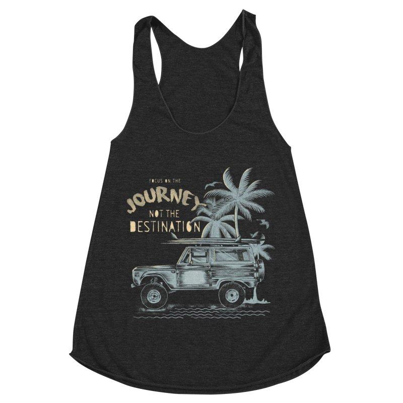 Journey Women's Racerback Triblend Tank by jackduarte's Artist Shop