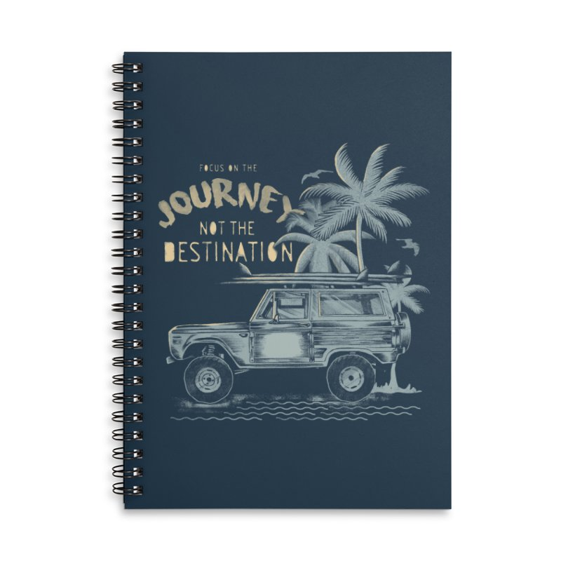 Journey Accessories Lined Spiral Notebook by jackduarte's Artist Shop
