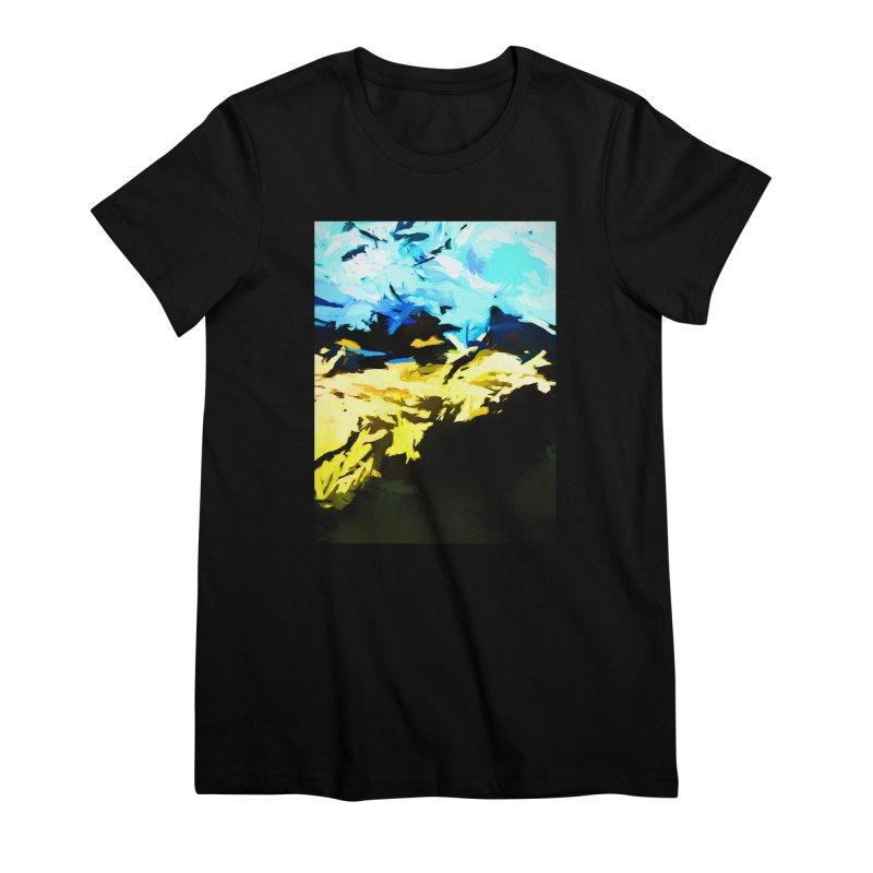 Land Shake Ground Groan Women's Premium T-Shirt by jackievano's Artist Shop