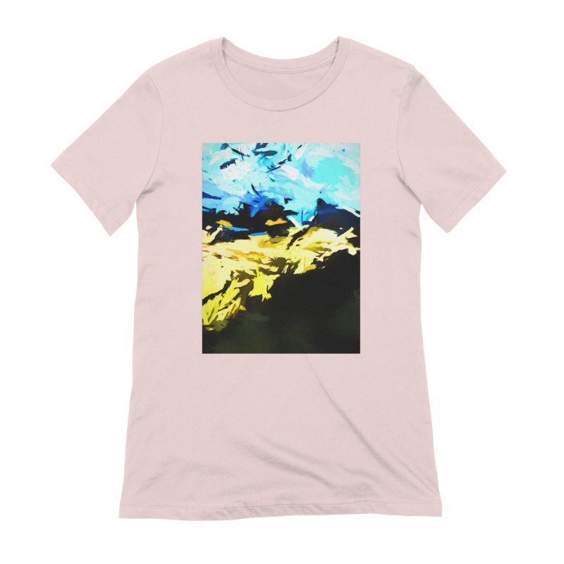 Land Shake Ground Groan Women's Extra Soft T-Shirt by jackievano's Artist Shop