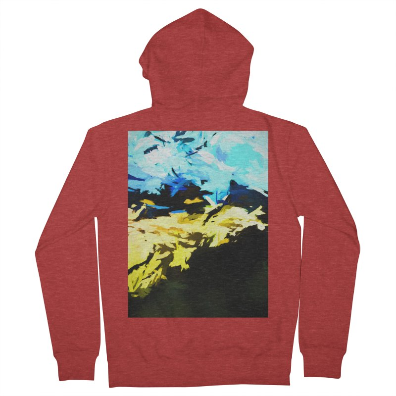 Land Shake Ground Groan Men's French Terry Zip-Up Hoody by jackievano's Artist Shop