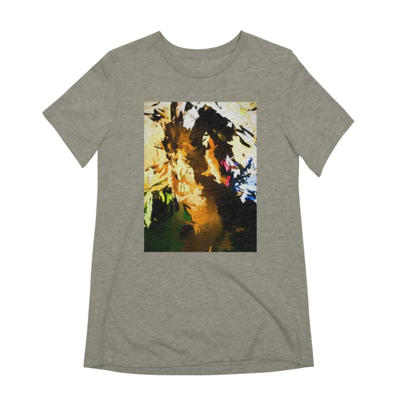 Man in the Green Shirt Eating Pizza Women's Extra Soft T-Shirt by jackievano's Artist Shop