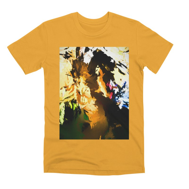 Man in the Green Shirt Eating Pizza Men's Premium T-Shirt by jackievano's Artist Shop