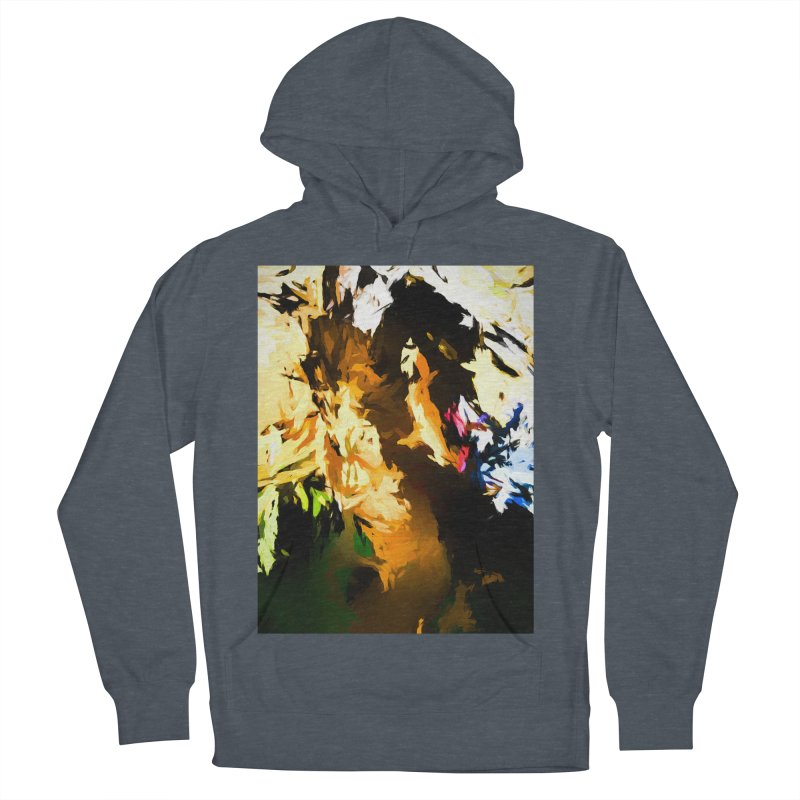 Man in the Green Shirt Eating Pizza Women's French Terry Pullover Hoody by jackievano's Artist Shop