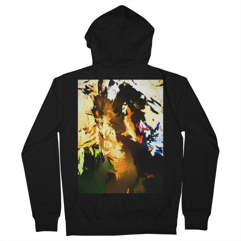 Man in the Green Shirt Eating Pizza Women's French Terry Zip-Up Hoody by jackievano's Artist Shop