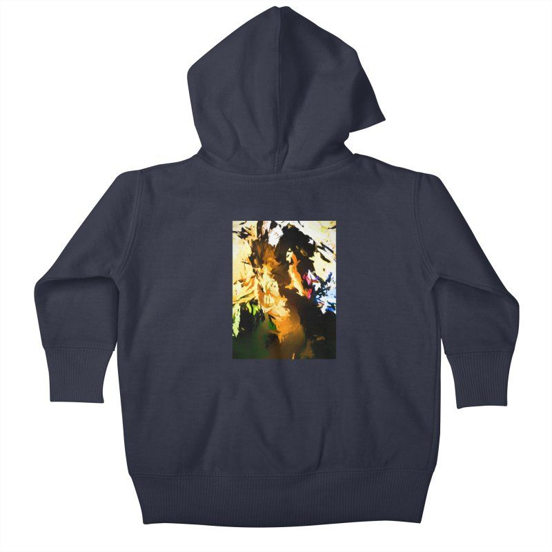 Man in the Green Shirt Eating Pizza Kids Baby Zip-Up Hoody by jackievano's Artist Shop