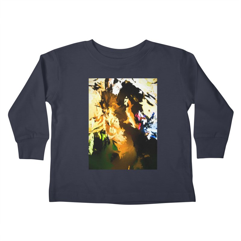 Man in the Green Shirt Eating Pizza Kids Toddler Longsleeve T-Shirt by jackievano's Artist Shop