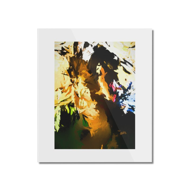 Man in the Green Shirt Eating Pizza Home Mounted Acrylic Print by jackievano's Artist Shop