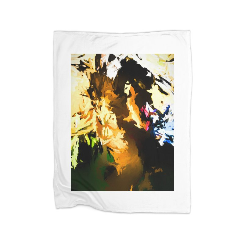 Man in the Green Shirt Eating Pizza Home Fleece Blanket Blanket by jackievano's Artist Shop