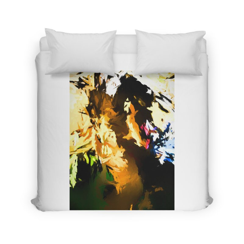 Man in the Green Shirt Eating Pizza Home Duvet by jackievano's Artist Shop