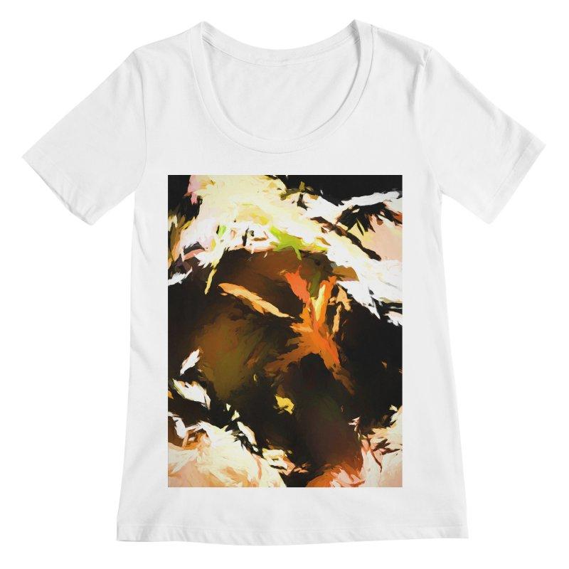 Volcano Bird Beak Lava Gag Women's Regular Scoop Neck by jackievano's Artist Shop