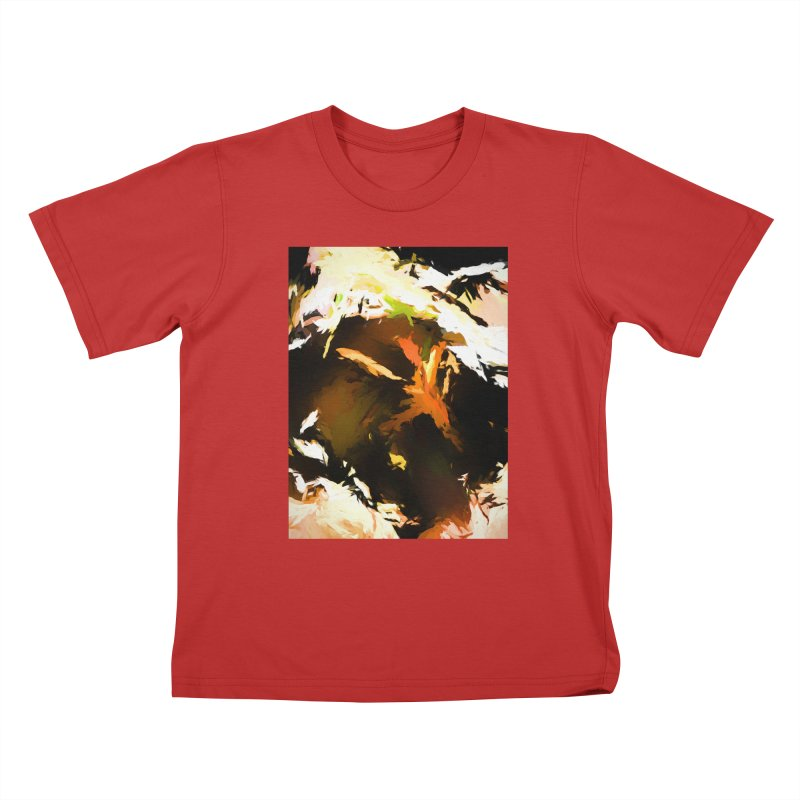 Volcano Bird Beak Lava Gag Kids T-Shirt by jackievano's Artist Shop