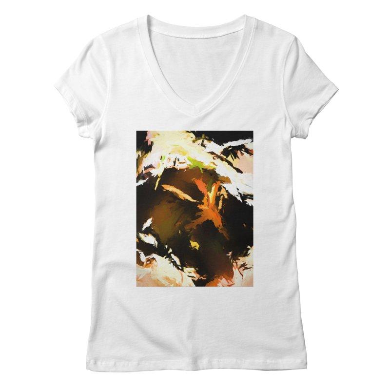 Volcano Bird Beak Lava Gag Women's Regular V-Neck by jackievano's Artist Shop
