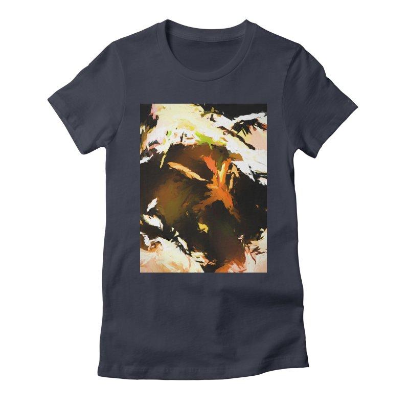 Volcano Bird Beak Lava Gag Women's Fitted T-Shirt by jackievano's Artist Shop