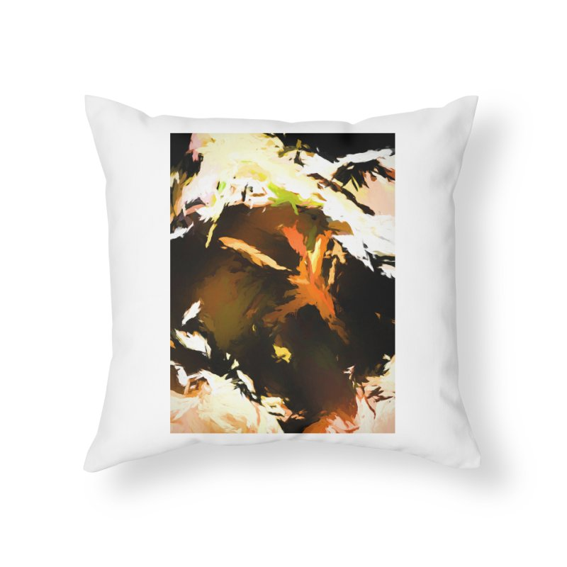 Volcano Bird Beak Lava Gag Home Throw Pillow by jackievano's Artist Shop