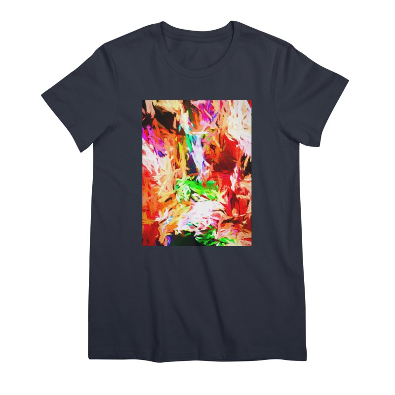 Orange Fire and the Triangle Abyss Women's Premium T-Shirt by jackievano's Artist Shop