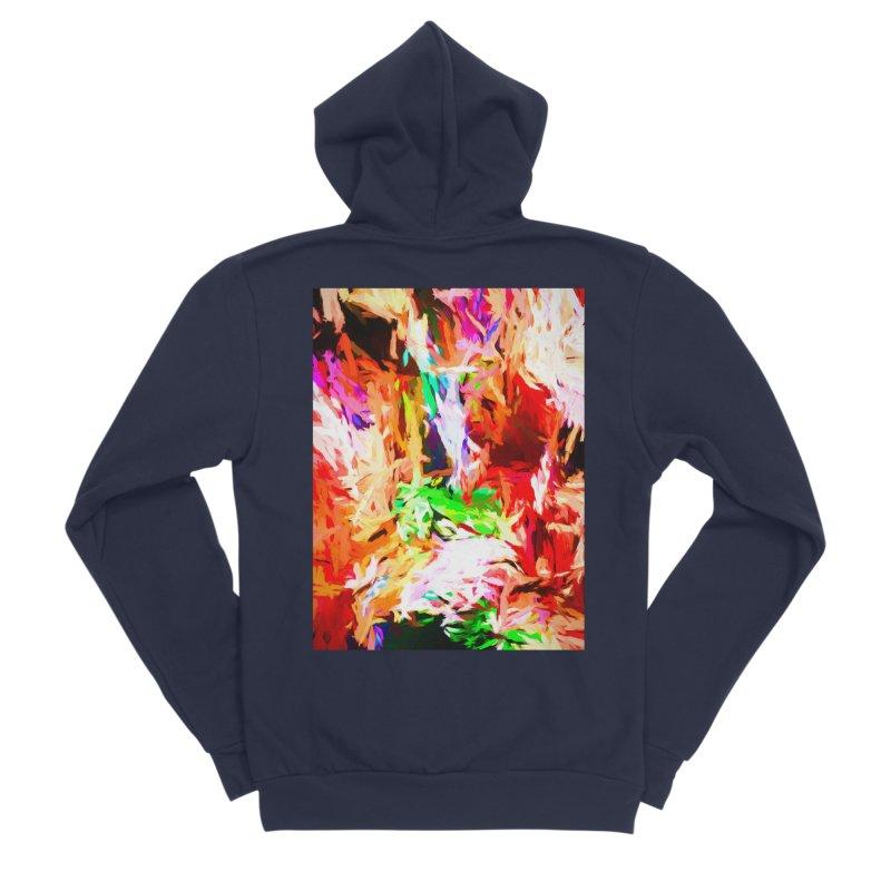 Orange Fire and the Triangle Abyss Women's Sponge Fleece Zip-Up Hoody by jackievano's Artist Shop