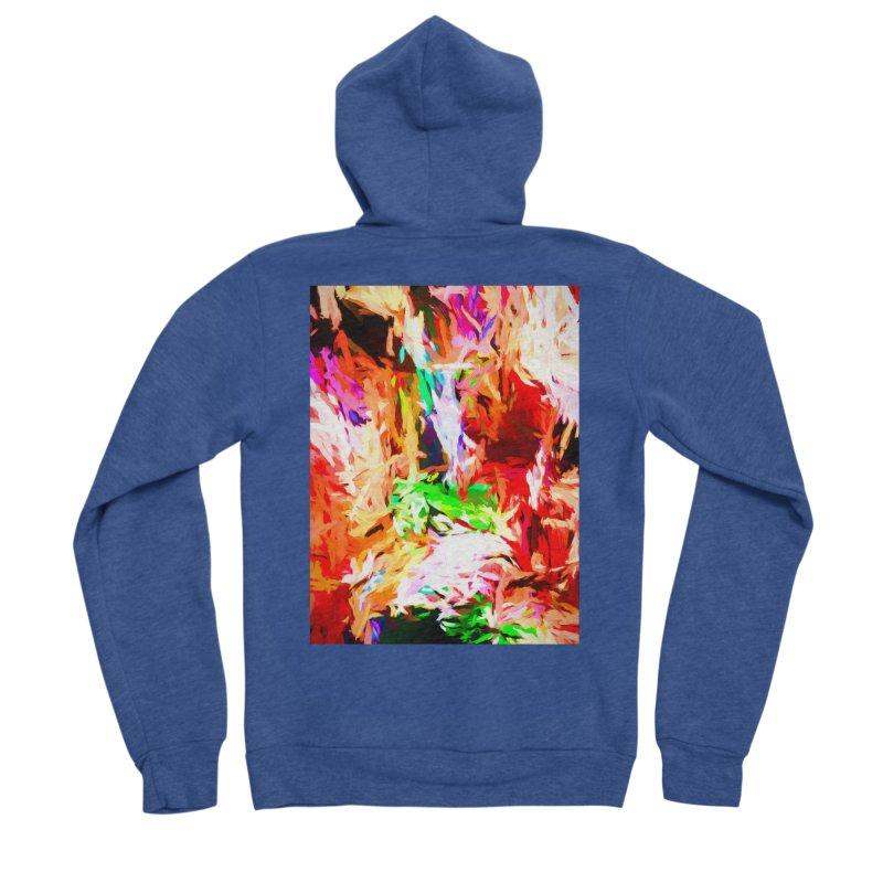 Orange Fire and the Triangle Abyss Men's Sponge Fleece Zip-Up Hoody by jackievano's Artist Shop
