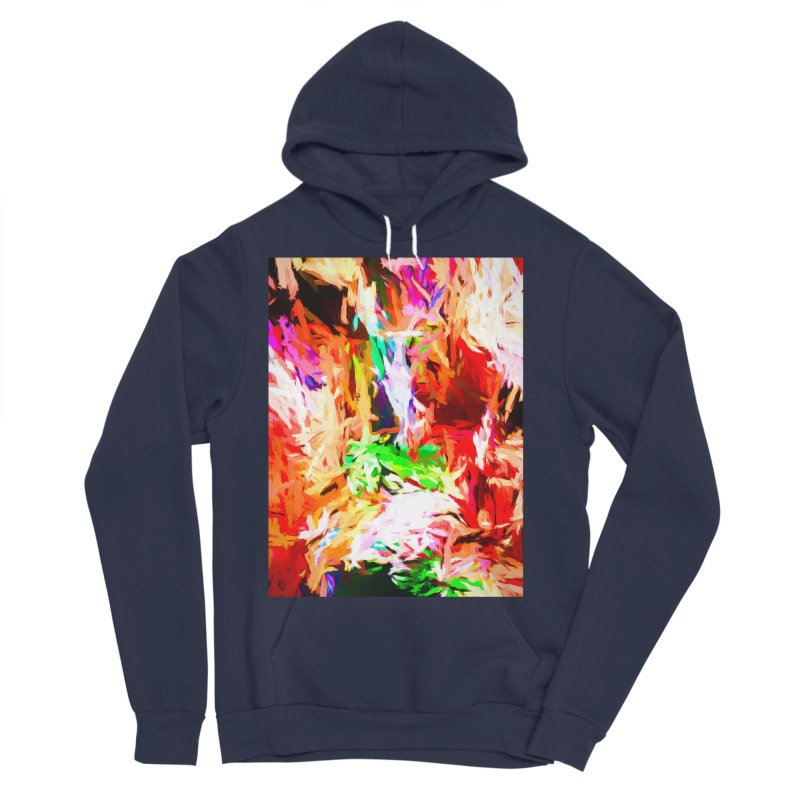 Orange Fire and the Triangle Abyss Men's Sponge Fleece Pullover Hoody by jackievano's Artist Shop