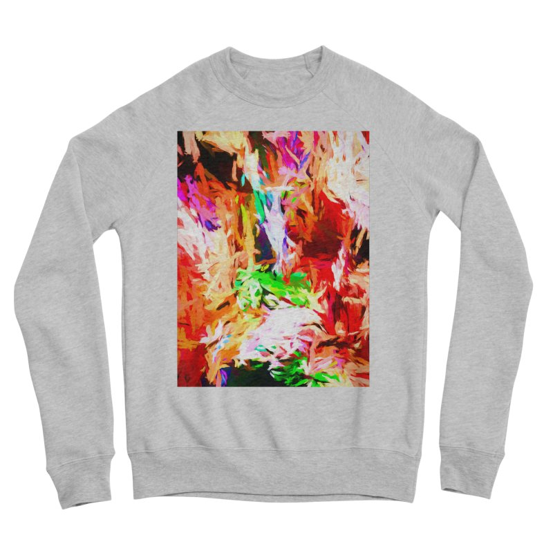 Orange Fire and the Triangle Abyss Men's Sponge Fleece Sweatshirt by jackievano's Artist Shop