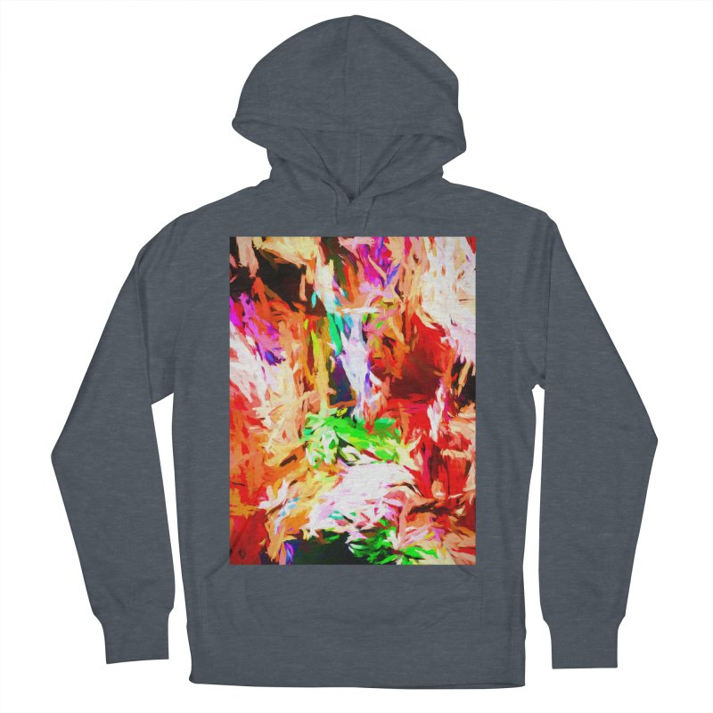Orange Fire and the Triangle Abyss Women's French Terry Pullover Hoody by jackievano's Artist Shop