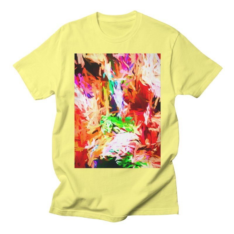 Orange Fire and the Triangle Abyss Women's Regular Unisex T-Shirt by jackievano's Artist Shop