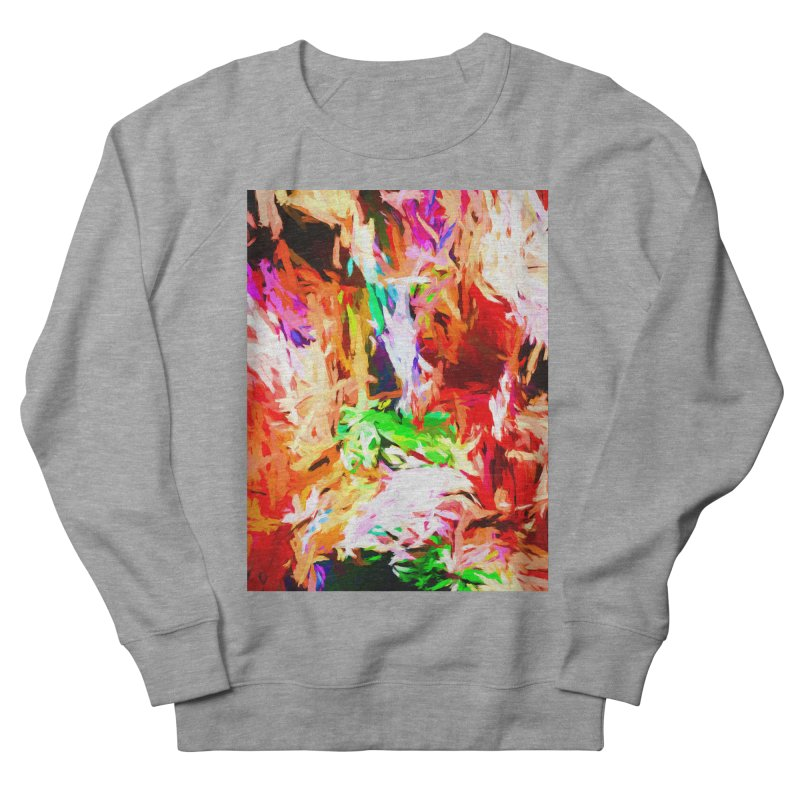 Orange Fire and the Triangle Abyss Women's French Terry Sweatshirt by jackievano's Artist Shop