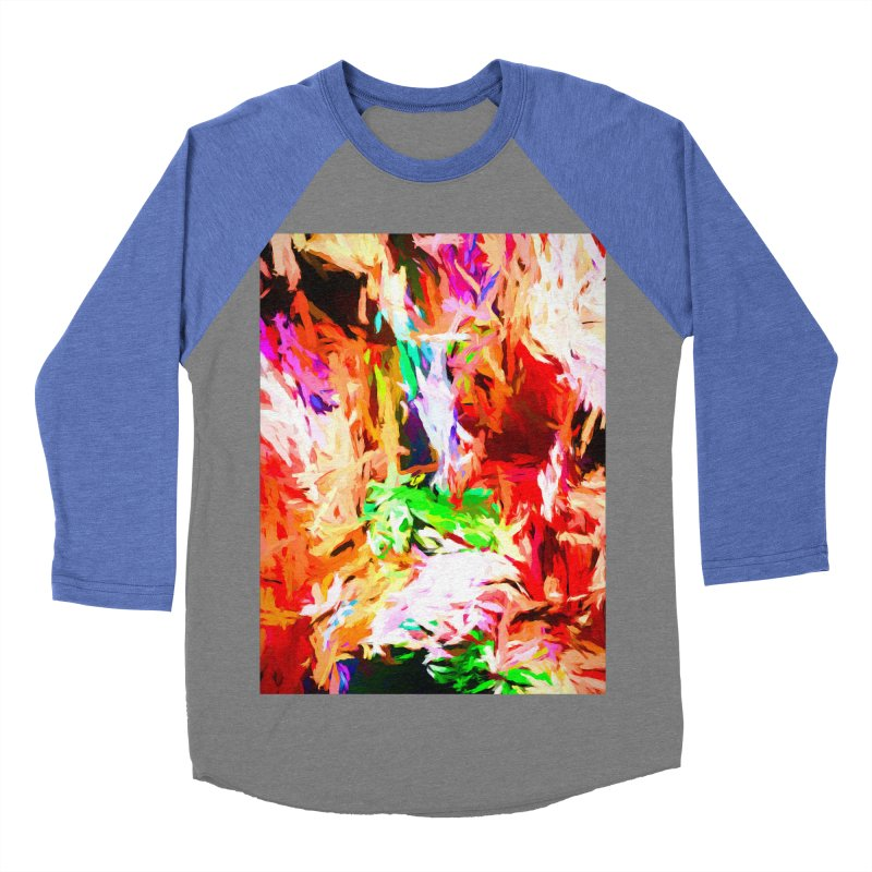 Orange Fire and the Triangle Abyss Women's Baseball Triblend Longsleeve T-Shirt by jackievano's Artist Shop