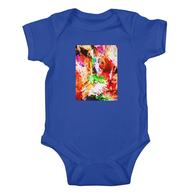 Orange Fire and the Triangle Abyss Kids Baby Bodysuit by jackievano's Artist Shop