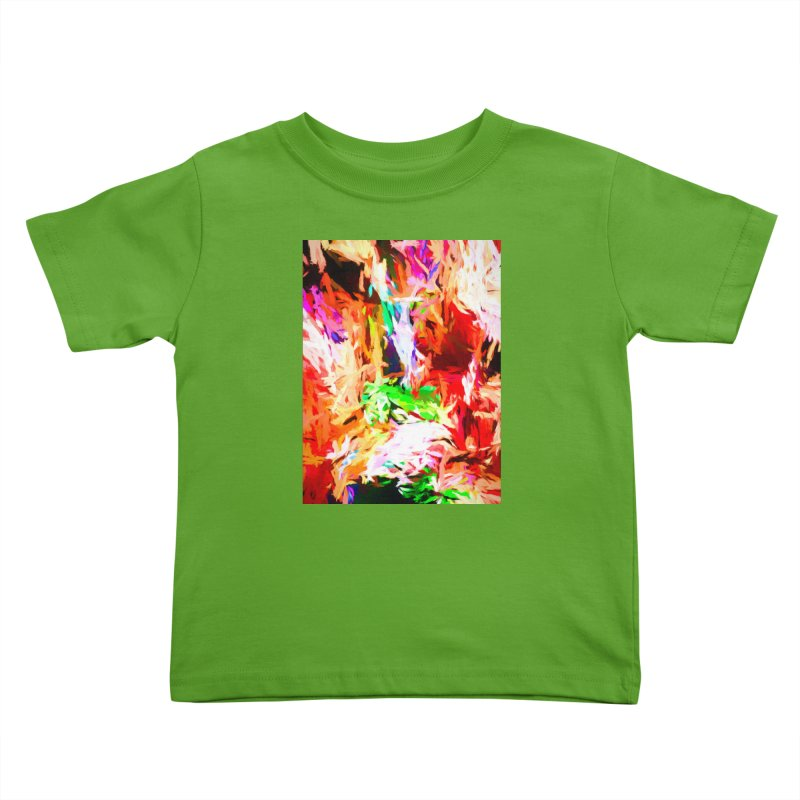 Orange Fire and the Triangle Abyss Kids Toddler T-Shirt by jackievano's Artist Shop