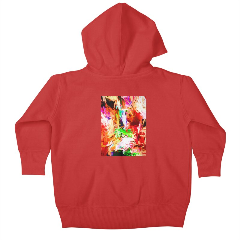 Orange Fire and the Triangle Abyss Kids Baby Zip-Up Hoody by jackievano's Artist Shop