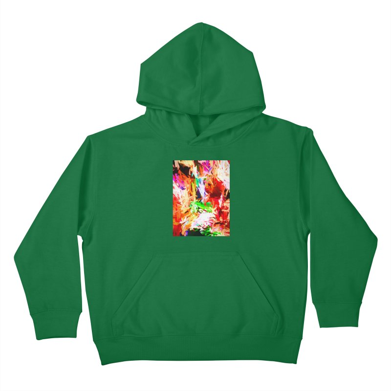 Orange Fire and the Triangle Abyss Kids Pullover Hoody by jackievano's Artist Shop