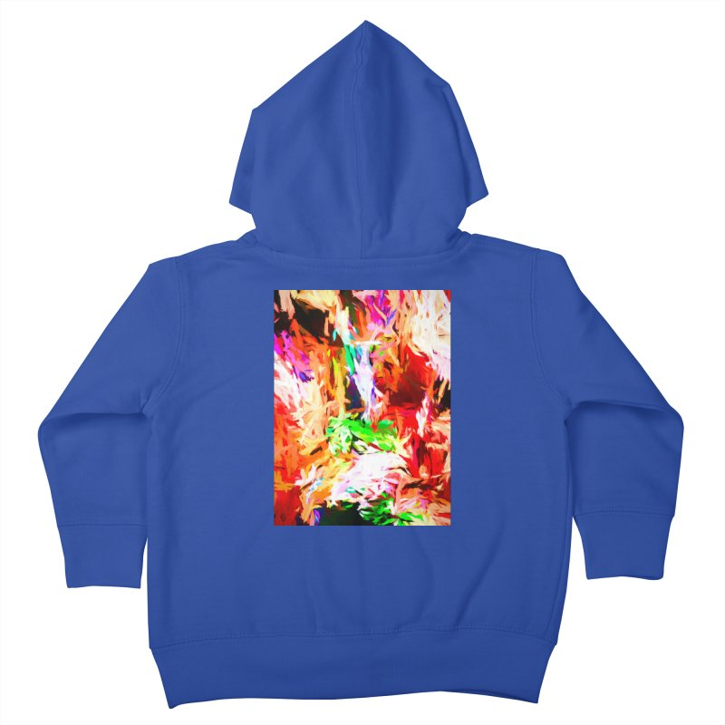 Orange Fire and the Triangle Abyss Kids Toddler Zip-Up Hoody by jackievano's Artist Shop