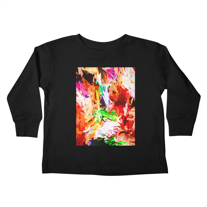 Orange Fire and the Triangle Abyss Kids Toddler Longsleeve T-Shirt by jackievano's Artist Shop