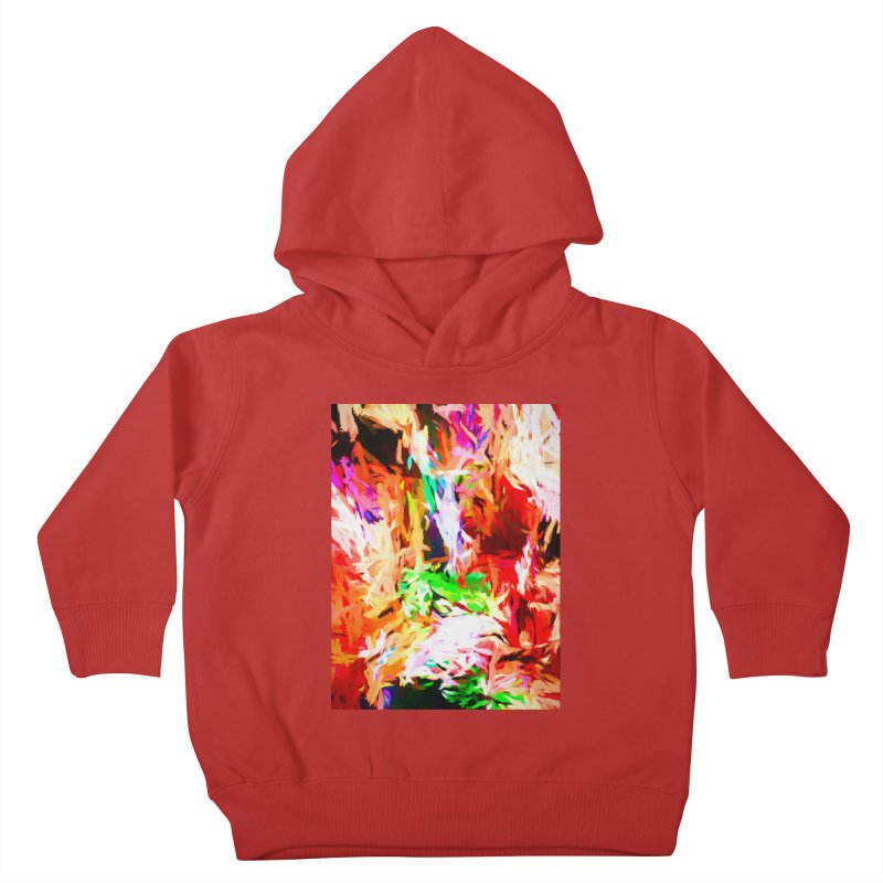 Orange Fire and the Triangle Abyss Kids Toddler Pullover Hoody by jackievano's Artist Shop