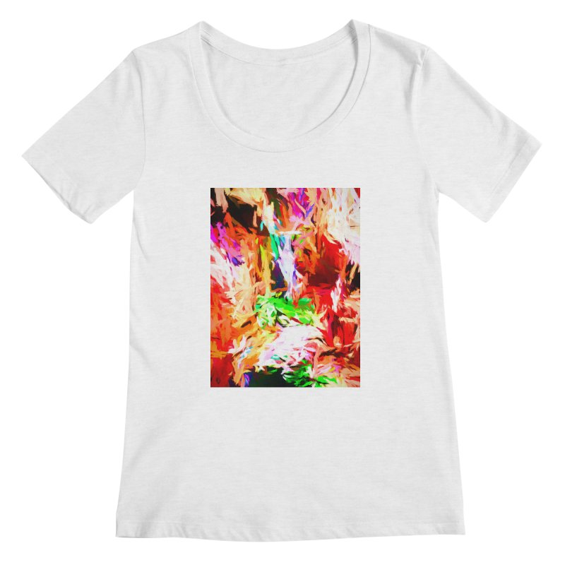 Orange Fire and the Triangle Abyss Women's Regular Scoop Neck by jackievano's Artist Shop