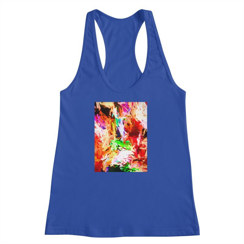 Orange Fire and the Triangle Abyss Women's Racerback Tank by jackievano's Artist Shop
